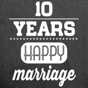 10 Years Happy Marriage T-Shirts - Schultertasche aus Recycling-Material