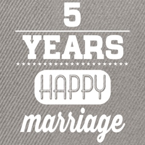 5 Years Happy Marriage T-Shirts - Snapback Cap