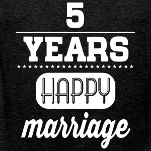 5 Years Happy Marriage T-Shirts - Männer Premium Tank Top