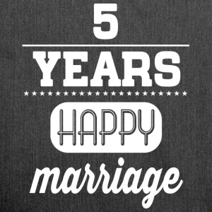 5 Years Happy Marriage T-Shirts - Schultertasche aus Recycling-Material