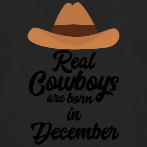 Real Cowboys are bon in December Sw215 Shirts - Men's Premium Longsleeve Shirt