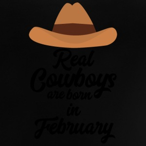 Real Cowboys are bon in February Si955 Shirts - Baby T-Shirt