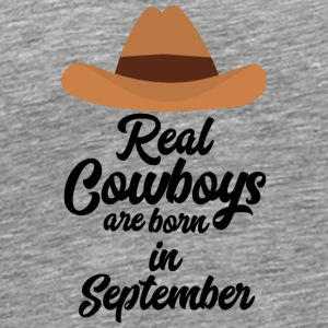 Real Cowboys are bon in September Se2 Long Sleeve Shirts - Men's Premium T-Shirt