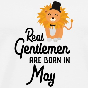Real Gentlemen are born in May S63yp Long Sleeve Shirts - Men's Premium T-Shirt