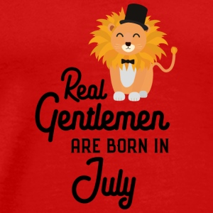 Real Gentlemen are born in July Sp8i5 Long Sleeve Shirts - Men's Premium T-Shirt