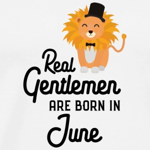 Real Gentlemen are born in June Surs5 Long Sleeve Shirts - Men's Premium T-Shirt