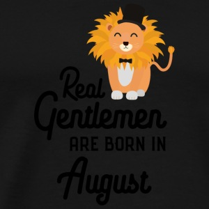 Real Gentlemen are born in August Sciii Long sleeve shirts - Men's Premium T-Shirt