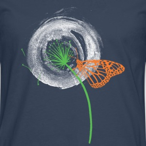 Animal Planet Dandelion with Butterfly - Premium langermet T-skjorte for menn
