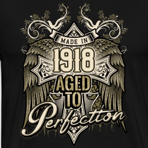 Made in 1918 aged to perfection - retro birthday gift present - RAHMENLOS Pullover & Hoodies - Männer Premium T-Shirt