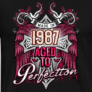 Made in 1987 aged to perfection - birthday gift present - RAHMENLOS Pullover & Hoodies - Männer Premium T-Shirt