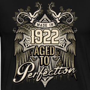 Made in 1922 aged to perfection - retro birthday gift present - RAHMENLOS Pullover & Hoodies - Männer Premium T-Shirt