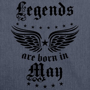 Legends are born in May Birthday Geburtstag T-Shir - Schultertasche aus Recycling-Material