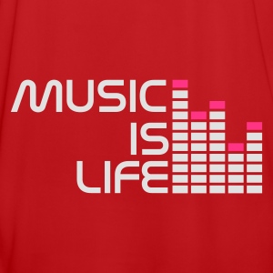 Rouge/blanc music is life equalizer r FR Sacs - Maillot de football Homme