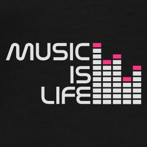 Svart music is life equalizer r Undertøy - Premium T-skjorte for menn