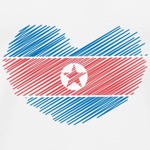 North Korea Heart Sweatshirts - Herre premium T-shirt