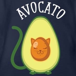 Avocato | Cute Avocado Cat Illustration Shirts - Organic Short-sleeved Baby Bodysuit