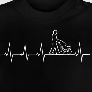 Walking Dad - Heartbeat Long Sleeve Shirts - Baby T-Shirt