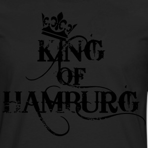 King of Hamburg Krone Kiez König Kings T-Shirt - Männer Premium Langarmshirt