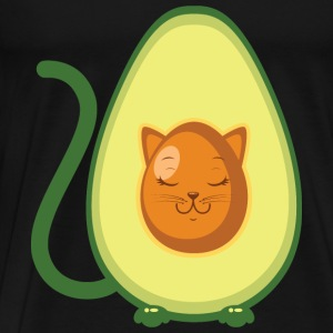 Cute Avocado Cat Illustration Sudaderas - Camiseta premium hombre