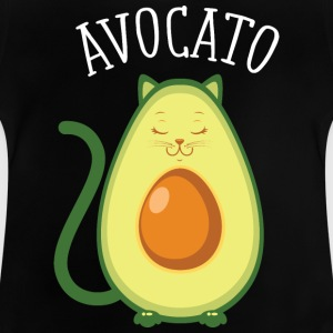 Avocato | Cute Cat Avocado Design Shirts - Baby T-Shirt