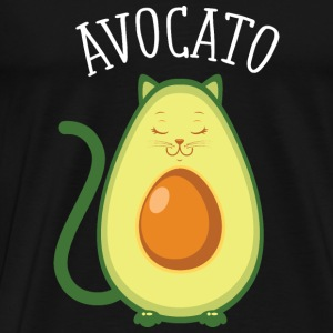 Avocato | Cute Cat Avocado Design Långärmade T-shirts - Premium-T-shirt herr