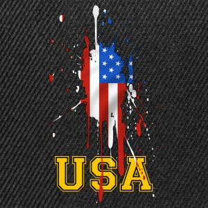 USA grunge flag 02 Tee shirts - Casquette snapback