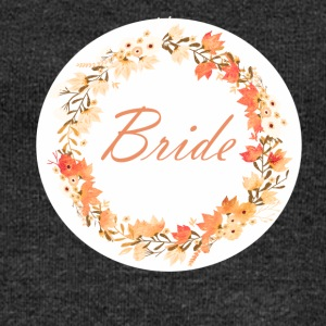 bride_wreath_flower_power_orange T-shirts - Vrouwen trui met U-hals van Bella