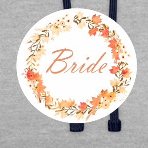 bride_wreath_flower_power_orange T-skjorter - Kontrast-hettegenser