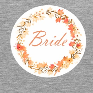 bride_wreath_flower_power_orange T-shirts - Mannen Premium shirt met lange mouwen