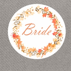 bride_wreath_flower_power_orange T-shirts - Snapback cap