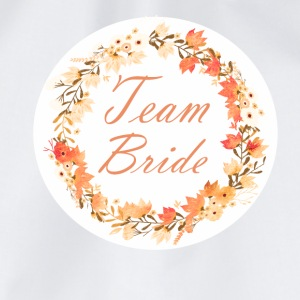 team_bride_wreath_flower_power_orange T-shirts - Gymtas