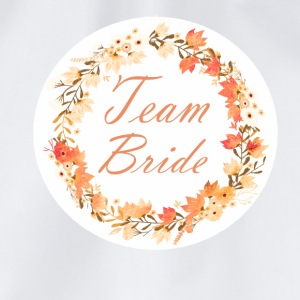 team_bride_wreath_flower_power_orange T-skjorter - Gymbag
