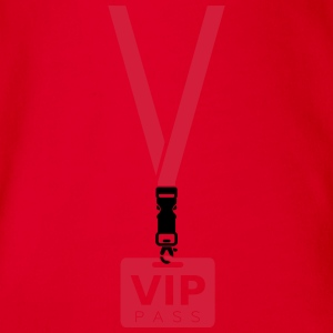 VIP PASS CARD Long Sleeve Shirts - Organic Short-sleeved Baby Bodysuit