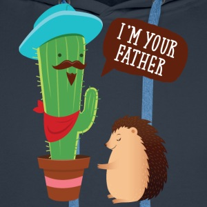 I'm Your Father | Cactus Hedgehog Illustration T-Shirts - Männer Premium Hoodie