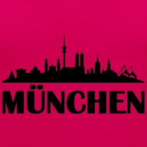 Skyline München Name T-Shirts - Frauen Premium Tank Top