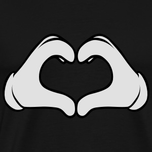 Comic Heart Hand | Great Gift For People You Love Sweats - T-shirt Premium Homme