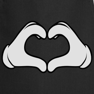 Comic Heart Hand | Great Gift For People You Love T-Shirts - Kochschürze