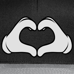 Comic Heart Hand | Great Gift For People You Love T-Shirts - Snapback Cap