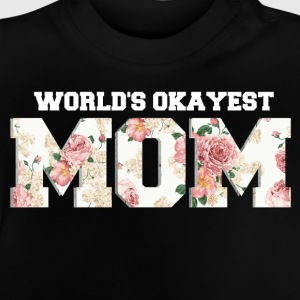 World's Okayest Mom Langærmede shirts - Baby T-shirt