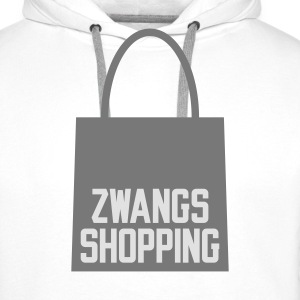 Weiß Zwangs Shopping © T-Shirts - Sweat-shirt à capuche Premium pour hommes