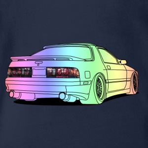 old rx7 colourful Camisetas - Body orgánico de maga corta para bebé