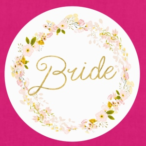 bride_big_wreath T-shirts - Bio stoffen tas
