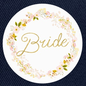 bride_big_wreath T-shirts - Snapback cap