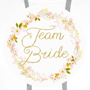 team_bride_big_wreath Buttons - Mannen Premium hoodie