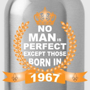 No Man is Perfect Except Those Born in 1967 T-Shirts - Water Bottle