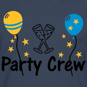 Party Crew Ballon Champagne  T-Shirts - Men's Premium Longsleeve Shirt