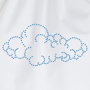 Wolk / cloud (dots, 1c) Kinder sweaters - Gymtas