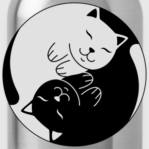Cat Ying Yang | Cute Illustration  T-Shirts - Trinkflasche