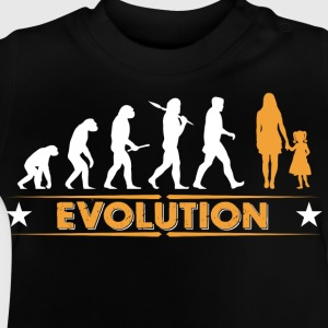 Mother and daughter - evolution - orange/white Long Sleeve Shirts - Baby T-Shirt