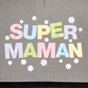 super maman pastel Tee shirts - Casquette snapback